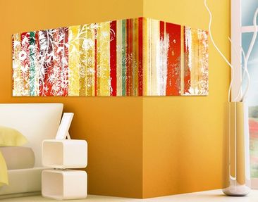 Product picture Corner Canvas Art Streaky I Panorama 2:1