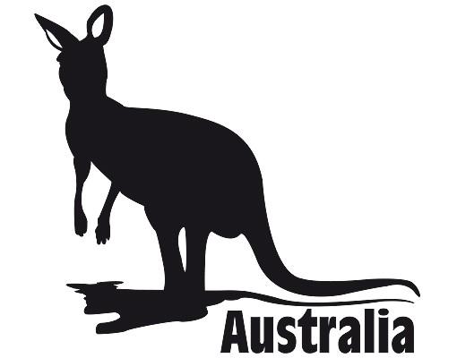 Produktfoto Wandtattoo Sprüche - Wandworte No.JS29 Australia Kangaroo