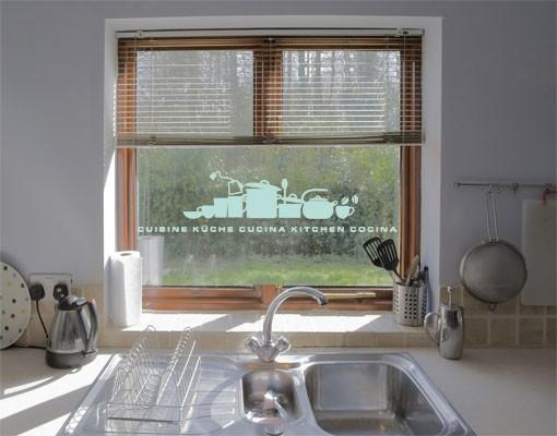 Produktfoto Fensterfolie - Fenstertattoo No.UL926 KüchenSilhouettte - Milchglasfolie