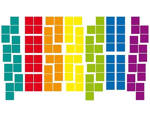 Produktfoto Wandtattoo Kinderzimmer No.AC159 Tetris Bunt