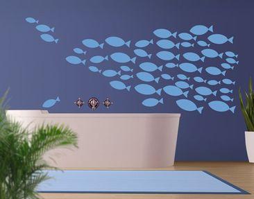 Produktfoto Wandtattoo Fische No.KA12 Fischschwarm