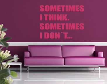 Produktfoto Wall Decal no.KA5 Sometimes