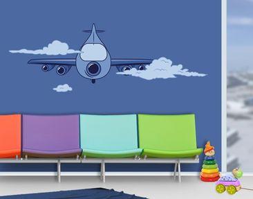 Produktfoto Wandtattoo Kinderzimmer No.JS62 Flugzeug