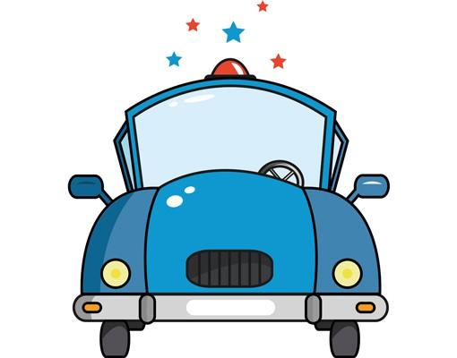 Wandtattoo kinderzimmer no js60 police car - Wandtattoo kinderzimmer auto ...