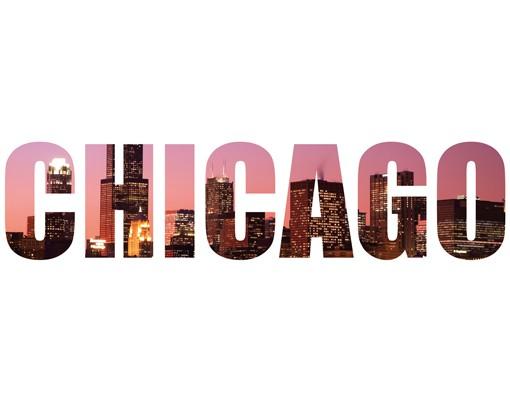 Produktfoto Wandtattoo Sprüche - Wandworte No.JS46 Chicago Skyline