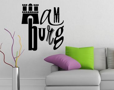 Produktfoto Wall Decal no.UL1051 Typo Hamburg