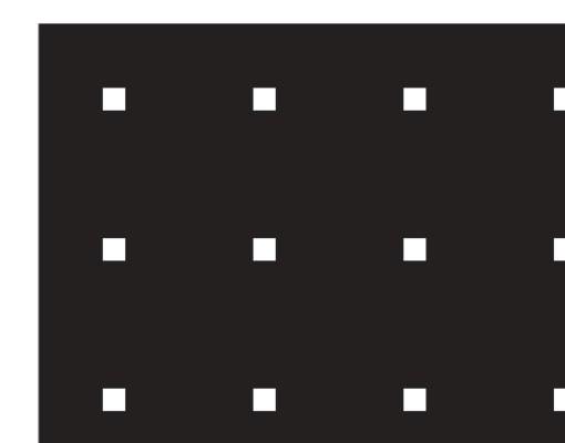 Produktfoto Fensterfolie - Sichtschutzfolie No.UL933 Kleine Quadrate III - Milchglasfolie