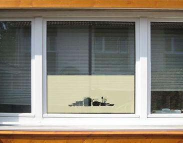 Produktfoto Fensterfolie - Sichtschutzfolie No.UL936 Geschirr I - Milchglasfolie