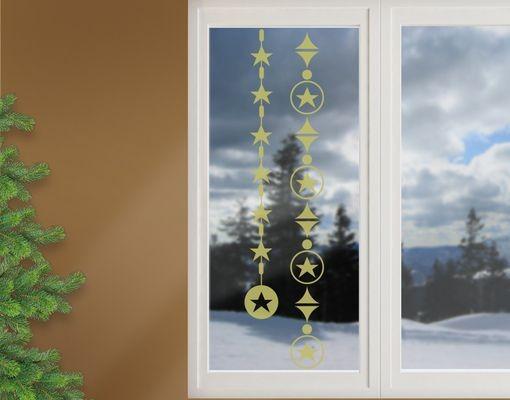 Produktfoto Fensterfolie - Fenstertattoo No.1231 Sternenketten - Milchglasfolie