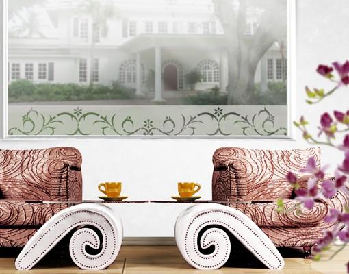 Produktfoto Fensterfolie - Fenstertattoo Bordüre No.CA16 Winterbordüre II - Milchglasfolie
