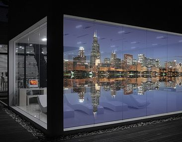 Produktfoto Fensterfolie - XXL Fensterbild Chicago...