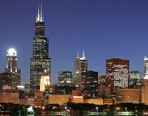 Produktfoto Selbstklebendes Wandbild Chicago Reflection