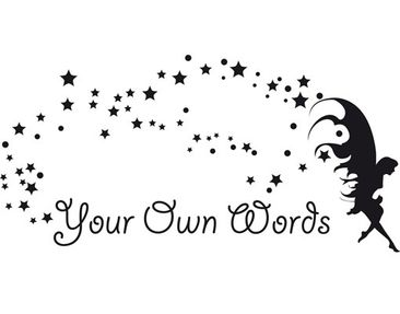 Product picture Wall Decal no.CA23 Your Own Words Fairy...