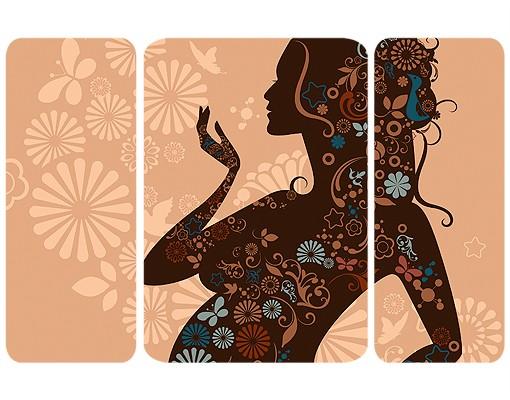 Produktfoto Selbstklebendes Wandbild Lebensfreude Triptychon II