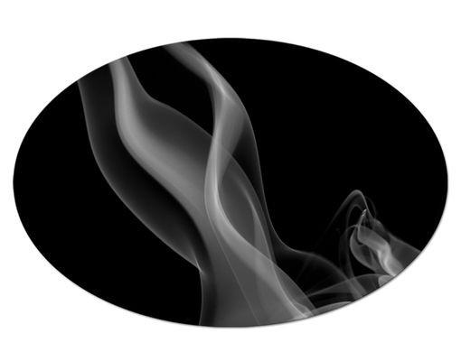 Produktfoto Leinwandbild Oval Silver Smoke