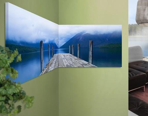 Produktfoto Eckleinwandbild Nelson Lakes National Park Panorama 1:1