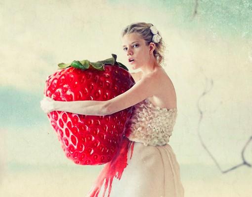 Produktfoto Fliesenbild Strawberryprincess