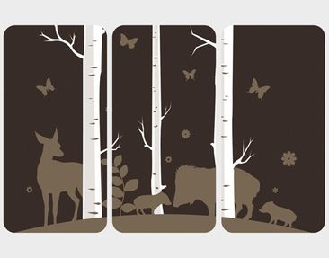 Product picture Wall Mural no.JS82 Birch Forest Triptych...