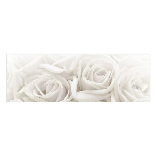 Produktfoto Rosenbild - Leinwandbild No.46 Weiße Rosen 120x40cm
