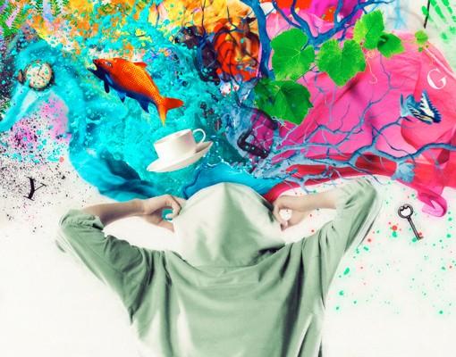 Produktfoto Fliesenbild Brain Explosions