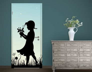Produktfoto Door Photo Wall Mural no.JS79 Flower...