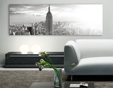 Produktfoto Leinwandbild No.12 Manhattan Skyline 120x40cm - New York