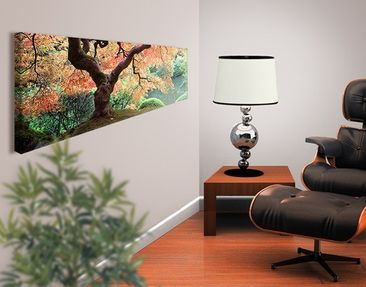Product picture Canvas Art no.36 Japanese Garden 120x40...
