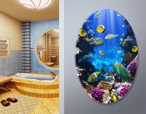 Produktfoto Leinwandbild Oval Underwater Dreams