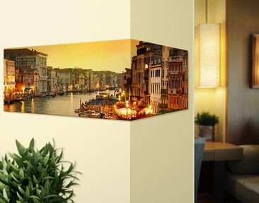 Product picture Corner Canvas Art Large Canal Of Venice...