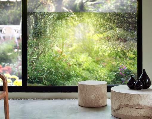 Produktfoto Fensterfolie - Sichtschutz Fenster Traumzauberwald - Fensterbilder