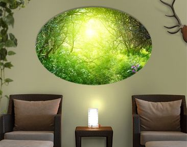 Produktfoto Canvas Art Oval Dream Magic Forest