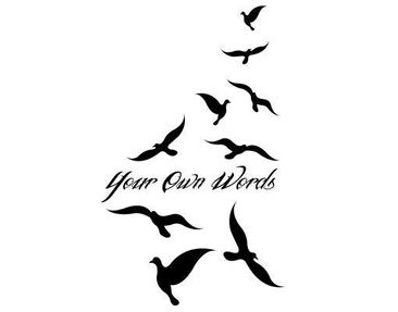 Product picture Wall Decal no.PP4 Your Own Words Freedom...