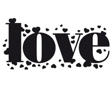 Product picture Wall Decal no.EV31 l o v e