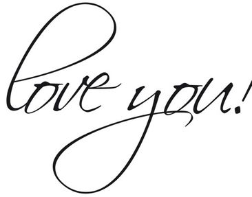 Product picture Wall Decal no.EV33 P.S. I Love You