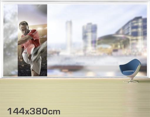 Produktfoto Fensterfolie - XXL Fensterbild Schuss zum Sieg - Fenster Sichtschutz