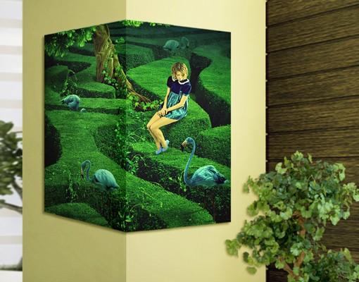 Produktfoto Eckleinwandbild Frau im Labyrinth 1:1