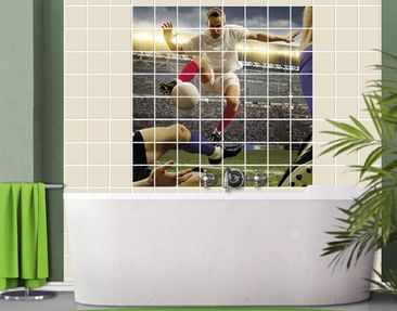 Produktfoto Tile Mural Football tactics