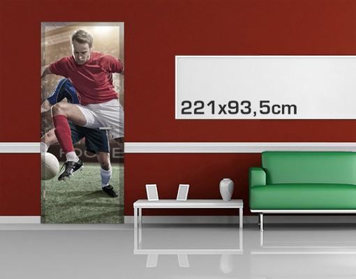 Produktfoto Kinderzimmer Türtapete selbstklebend - Fußballrivalen