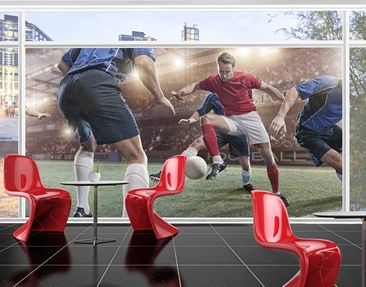 Product picture XXL Window Mural Contender Of Soccer