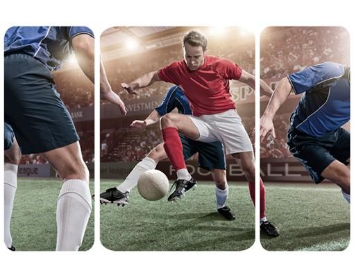 Produktfoto Selbstklebendes Wandbild Fußballrivalen Triptychon II