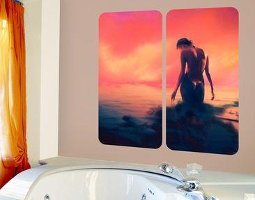 Produktfoto Selbstklebendes Wandbild Nymphe Duo