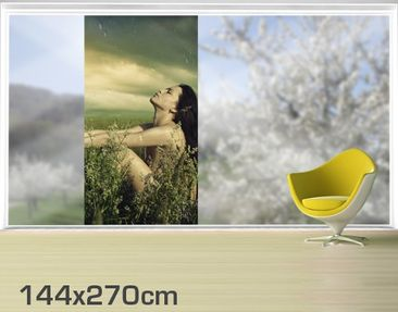 Product picture XXL Window Mural Summer Rain