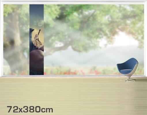 Produktfoto Fensterfolie - XXL Fensterbild Sunday Morning - Fenster Sichtschutz