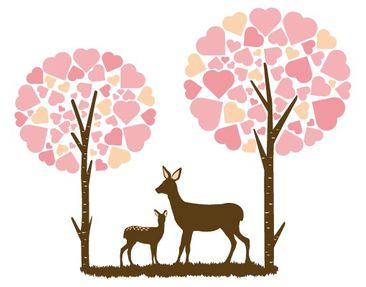 Product picture Wall Decal no.JS89 Roe Deer And The...