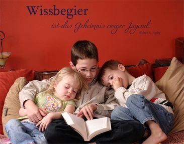 Produktfoto Wandtattoo Kinderzimmer Zitate - Wandzitate No.CG215 Wissbegier