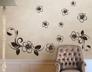 Produktfoto Wall Decal no.CA10 Dream Of Hibiscus Set