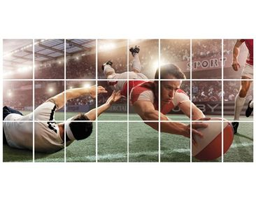 Product picture Tile Mural Rugby Action