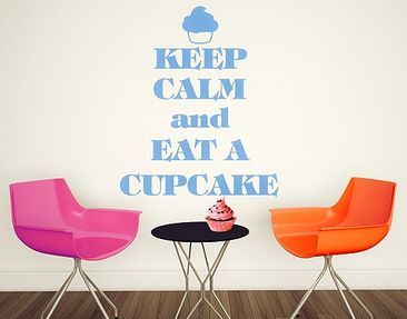 Immagine del prodotto Adesivo murale no.EV71 Keep Calm And Eat A Cupcake