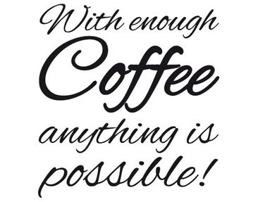 Product picture Wall Decal no.EV37 With Coffee