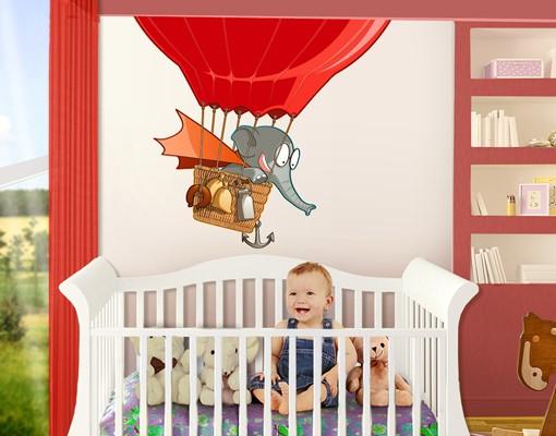 Produktfoto Wandtattoo Elefant Fliegender Bauernhof Ballonelefant